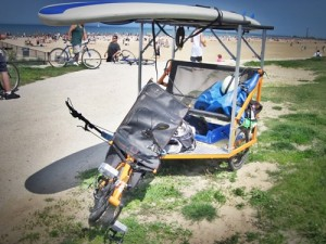 Get a PediCab in Indonesia - How to get to Nias Island